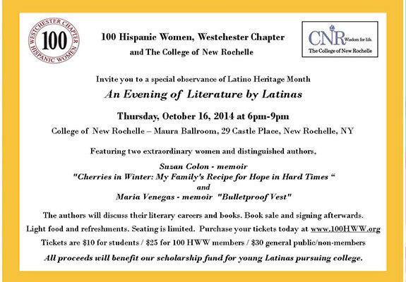 An Evening of Literature by Latinas
